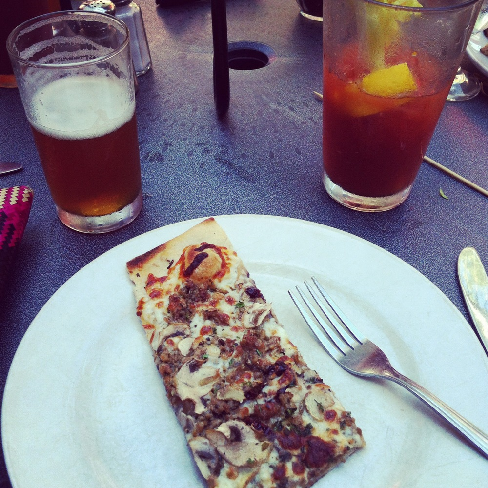Flatbread, Bloody Marys, and beer backs in Burlington