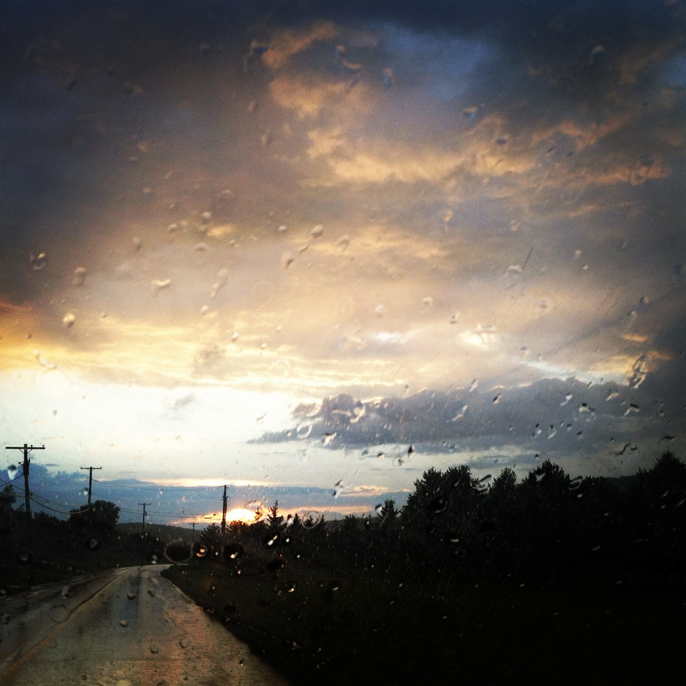 A rainy sunset in Vermont