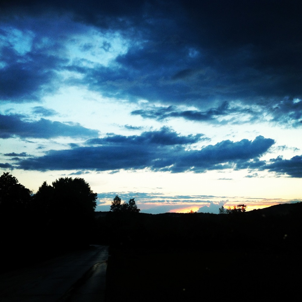 A gorgeous rainy sunset in Vermont