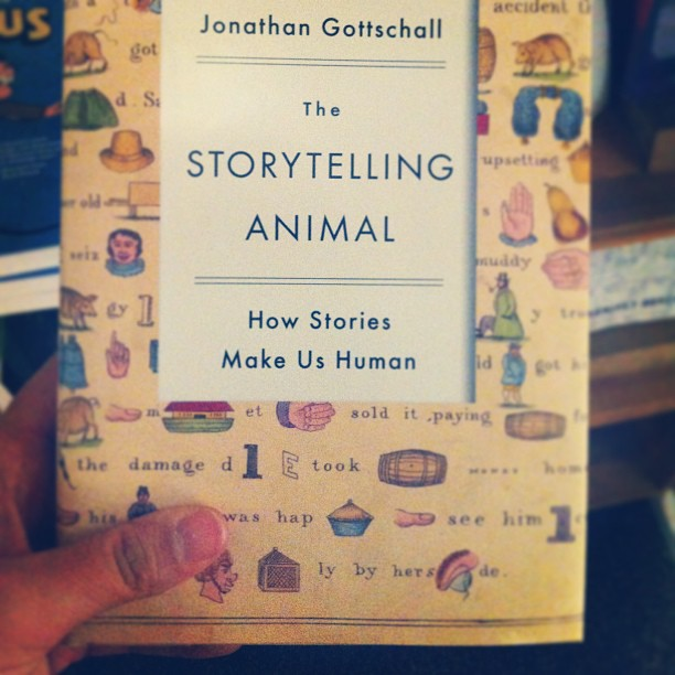 Book, The Storytelling Animal, found at MIT book store, Boston, Instagram