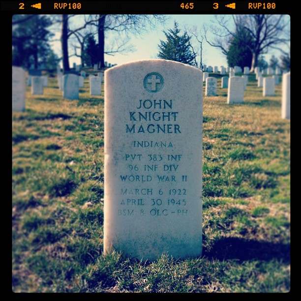 John Knight Magner grave at Arlington Cemetery
