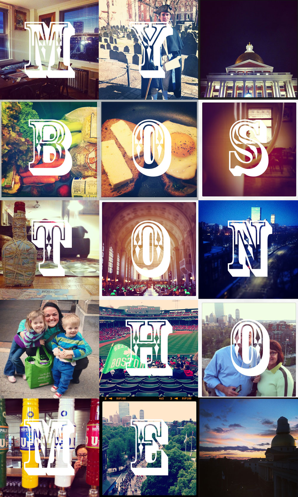 Instagram Boston mosaic