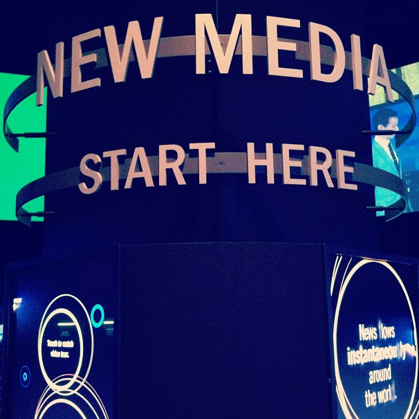 New media starts here, newseum, washington dc, usa