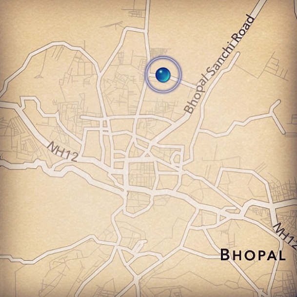 Bhopal map on North India trip with TGS
