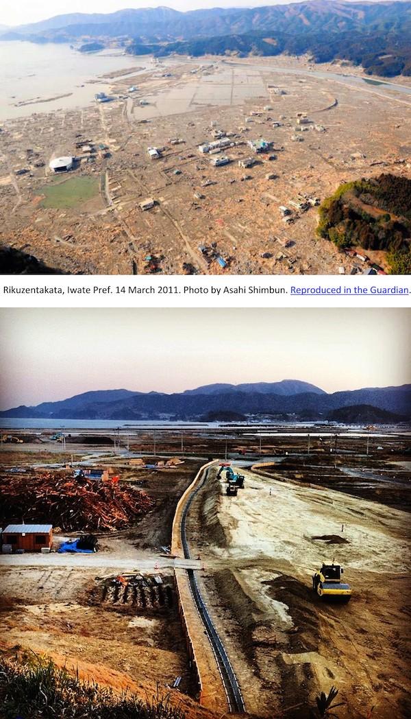 2011 and 2014, not much change in Rikuzentakata