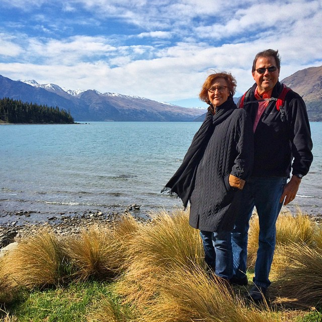 Mom and Dad in Queenstown, New Zealand