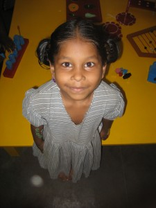 Young girl in an orphanage in Chennai, India