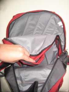 One main compartment with Quilted-padded Laptop Sleeve