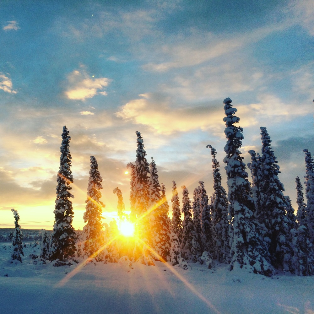The 10:30am sunset of Kiruna, Sweden