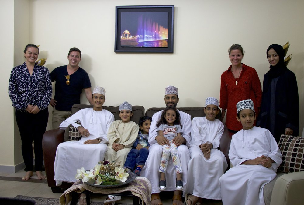 Treating our AirBnB hosts and learning about Omani culture