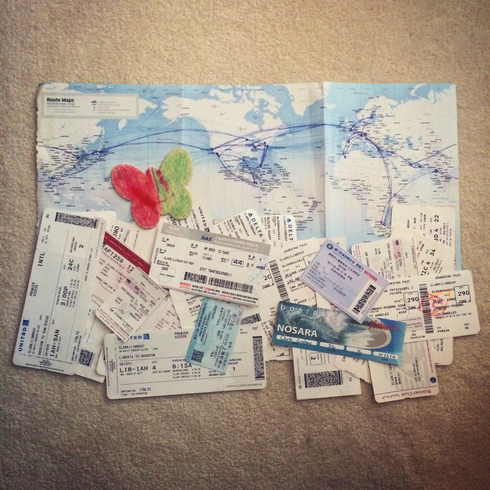 Boarding passes and tickets for round 2 of CD Travels