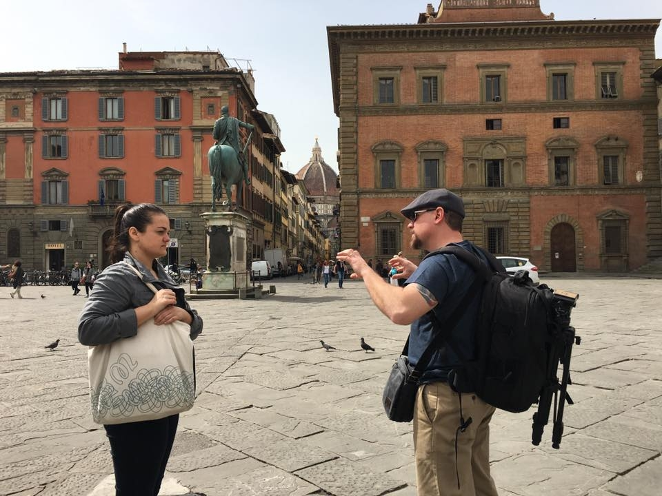 Planning footage for senior videos in Florence