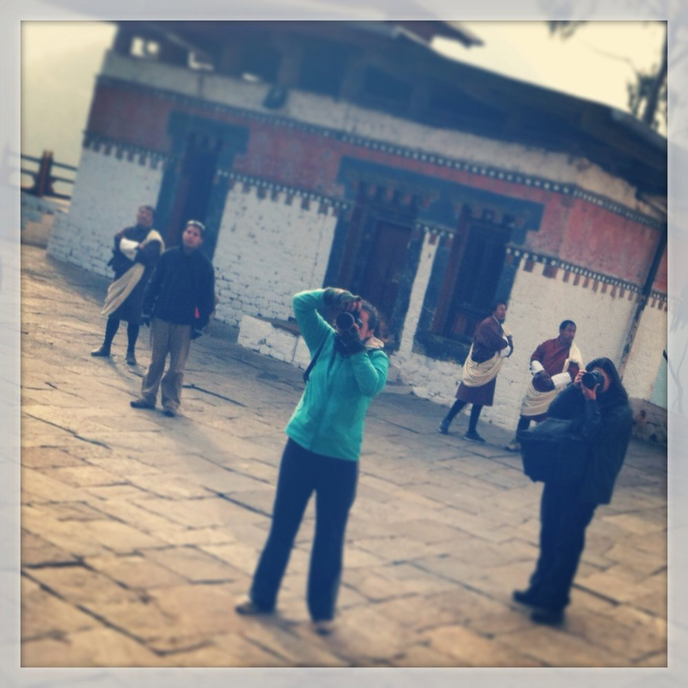 Photographing a school trip to Bhutan