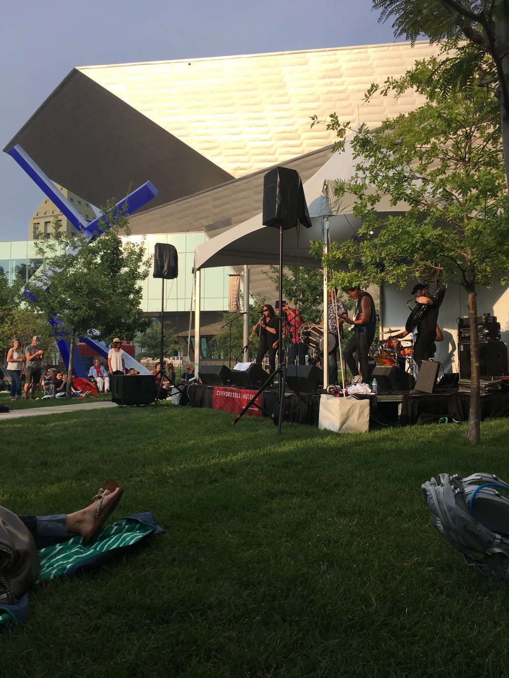Enjoying Red Baraat at the Clyfford Still Museum