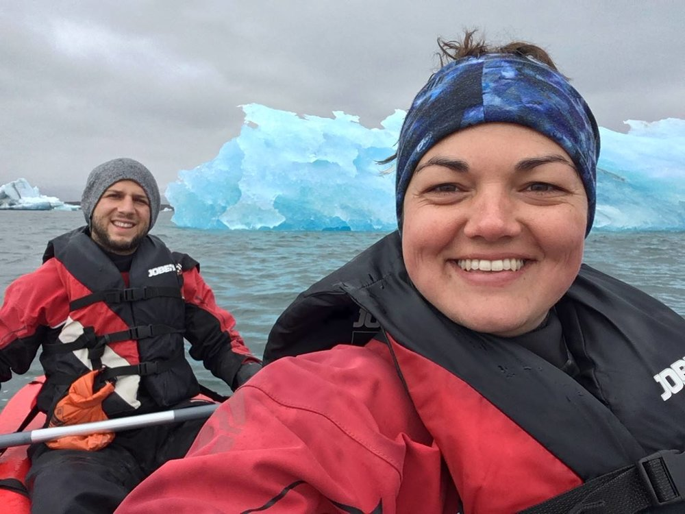 My last international trip before arriving in Denver, kayaking around icebergs in Iceland with colleague/friend Matt Cook