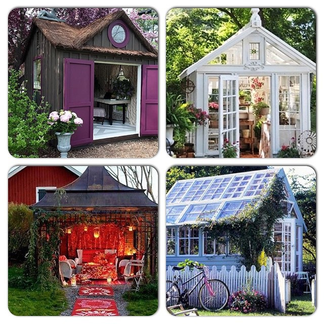 """Check out these awesome """"She Sheds"""" . These are very cool! Many different ideas to do! We can help your idea to be reality. Check out the link http://lightersideofrealestate.com/real-estate-life/cool-stuff/introducing-she-sheds for more ideas."""