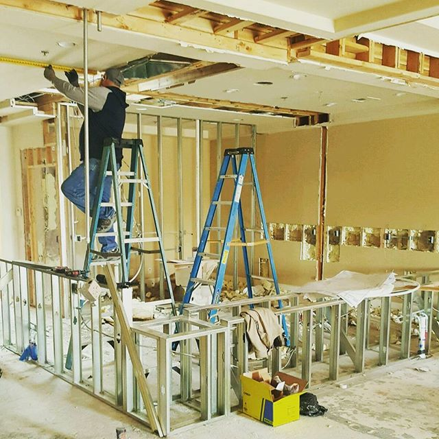 Interior renovation and build out #lasvegas #construction #remodeling