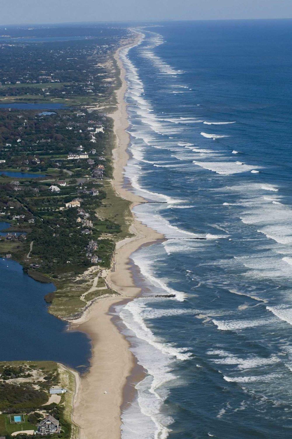 Newsday , Aerial of the shoreline in East Hampton, NY. (2008) Credit Doug Kuntz
