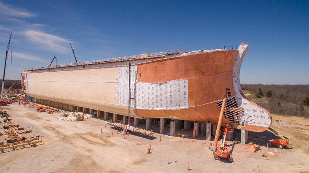 IT'S A NOAH'S ARK REPLICA.....GOD WOULD BE SO MAD.