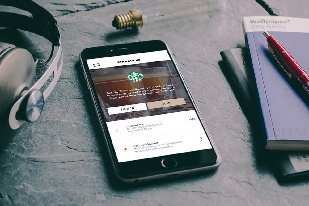 Q2 2015 Frontend Redesign Project for Starbucks China iOS App
