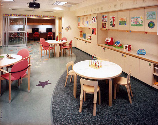 "The hospital's ""Forever Young"" playroom"