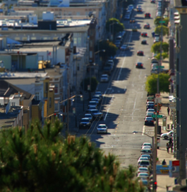 San Francisco tiltshift