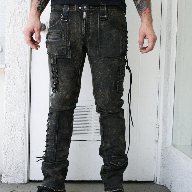 Pick of the day. Corded denim pant. #boneblackla #boneblack #customclothing