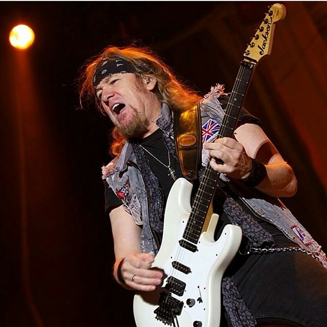 Regram of #adriansmith rocking our #boneblack purple vest. #boneblackla  #ironmaiden