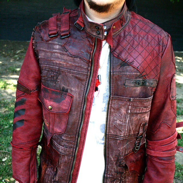 @darthwhiskey wearing his custom BBLA jacket. #customclothing #boneblackla