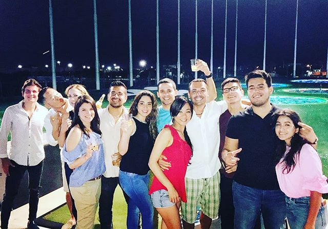 I couldn't ask to know a better group of people!  #topgolf #miami #socialmediamarketing #friendships #gtrskyline #carguys #