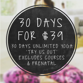 younga yoga studio 30 days $39