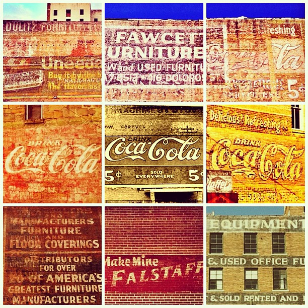 Ghost signs – Texas edition.   (Taken with and posted from  Instagram )