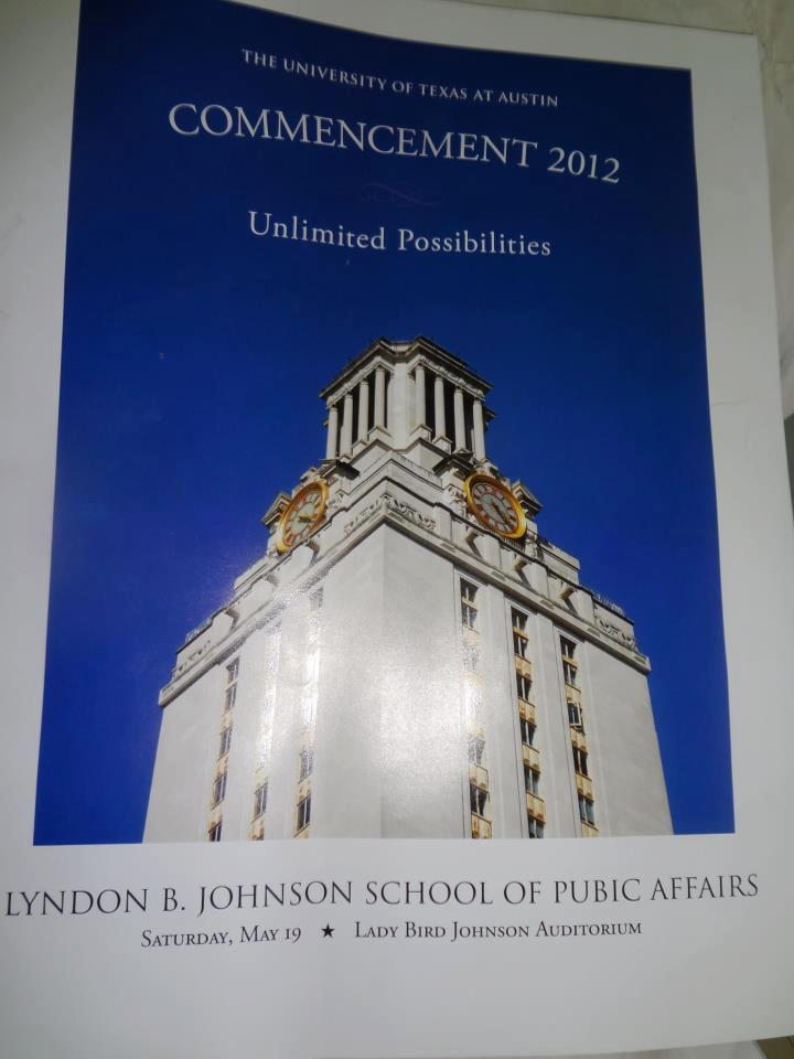 "2012 commencement programs for the LBJ School of Public Affairs at The University of Texas at Austin include an unfortunate typo: Susan Binford, assistant dean for communications at the Lyndon B. Johnson School of Public Affairs, says the ""pubic"" typo was spotted after the programs were distributed at Saturday's commencement exercises. ""Obviously, we are mortified. It's beyond embarrassing."" The program went through ""lots of layers of approval"" without any[one] catching the error. More, including apology tweets and dean's statement: That 'Pubic' problem – again! 