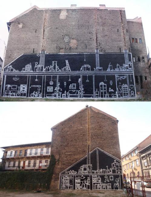 nevver: X-Ray Murals of Razed Buildings