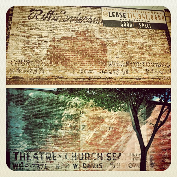 Two ghost signs on the same building. Bonus! (Taken with  Instagram  at Bishop Arts District in Dallas, Texas)