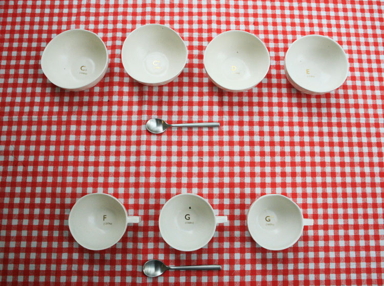 Viafutureoflistening: A set of crockery which resonates a specific note when struck. (via Musical Tableware: Alexander Hulme) Nicely paired with these musical glasses?