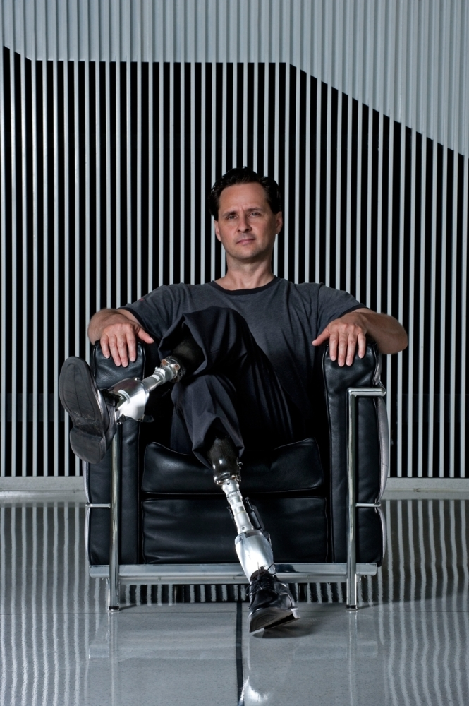"nprfreshair :        After losing both of his legs in a climbing accident, biophysicist Hugh Herr says he became motivated to do something worthwhile with his life. Today he runs the Biomechatronics group at the MIT Media Lab and designs better prosthetic limbs for other amputees:    ""My biological body will degrade in time due to normal, age-related  degeneration. But the artificial part of my body improves in time  because I can upgrade."" [ complete interview here ]     Inspiring."