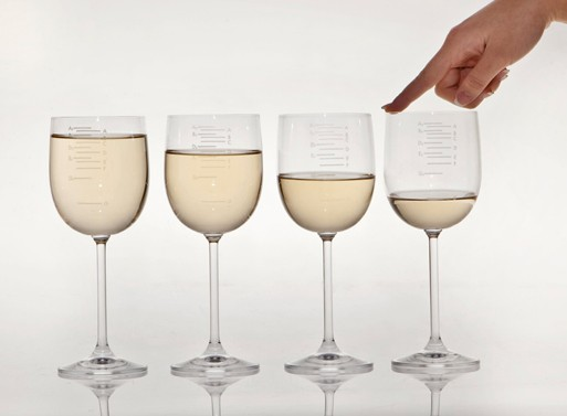 "Via  futureoflistening :     ""The graphics are musical notations for the correct level of liquid to produce the perfect pitch when a user runs their finger along the rim of the glass.""   Functionality, y'all.    Set of Musical Glasses — ACCESSORIES — Better Living Through Design      Today, in ""things I love."""