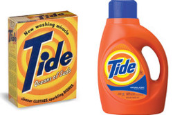 "Procter & Gamble Co., General Mills Inc., Hostess Brands Inc. and PepsiCo Inc. are pulling old package designs out of their archives for brands like Tide, Cheerios and Doritos and bringing them back to store shelves. Smaller companies and start-ups are using fonts, colors or designs that evoke the past on their labels.   The move is a U-turn from labels cluttered with specific claims like ""easy pour spout"" or ""better tasting"" to packaging that plays on the emotions. Over time, labels have gotten busier because computers allowed for complex designs and marketers wanted products to stand out on crowded shelves.   ""We got to the point where you couldn't add one more bling thing to a package,"" says Christine Mau, director of design at Kimberly-Clark Corp., the maker of Kleenex and Huggies, among other items.   The retro movement is driven, in part, by consumer-goods companies feeling pressure from retailers' private-label products, which are generally less expensive.    Manufacturers also say they are hoping to benefit from consumers' generally sunny impression of the past and stand out in a sea of modern, glossy packages.     Full story:  New! Improved! (and Very Old) - WSJ.com"