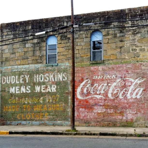 And the roadtrip adventures continue … The extra-awesome double ghost sign in Gonzales, Texas. Related: My earlier post here about this ghost ad, and posts about other ghost signs here. (shared via Instagram, this pic with no IG filter)