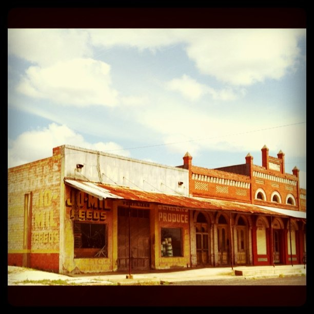 Abandoned historic building. Cool ghost sign & architectural detail. #roadtrip (Taken with  Instagram  at Schulenburg Texas)