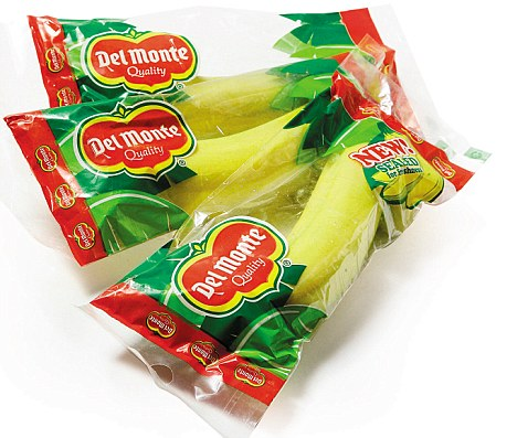 "Via  unconsumption :             It's an idea that sounds … well, bananas.   Del Monte has come up with individual plastic packaging for bananas, a fruit that already comes in its own natural, biodegradable wrapper.   Paradoxically, Del Monte says the packaged bananas, which will be marketed [in a trial] as a ""natural energy snack on the go"" in Britain and the United States, are intended as a green initiative.   The clear pouches are said to contain ""controlled ripening technology,"" purported to extend the shelf-life of the fruit by several days.    Del Monte's U.K. managing director James Harvey [told the Fresh Produce Journal] … ""Del Monte's new CRT packaging is designed to provide significant carbon footprint savings by reducing the frequency of deliveries and the amount of waste going to landfill. The packaging is also recyclable.""    Can extra packaging really be more environmentally friendly?      (Story via  The Globe and Mail ; photo via  The Daily Mail Online .)   (hat tip to our friends at  Green Thing ,  @Dothegreenthing )   Related: Earlier Unconsumption  post  about banana stickers."