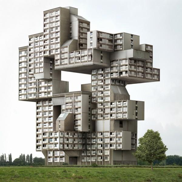Via utnereader :      magnolius :     Belgian photographer  Filip Dujardin  combines photographs of parts of buildings into new, fictional structures. He is the future. check him out.        Cool  piece on Dujardin  in a recent issue of Architecture Boston as well.