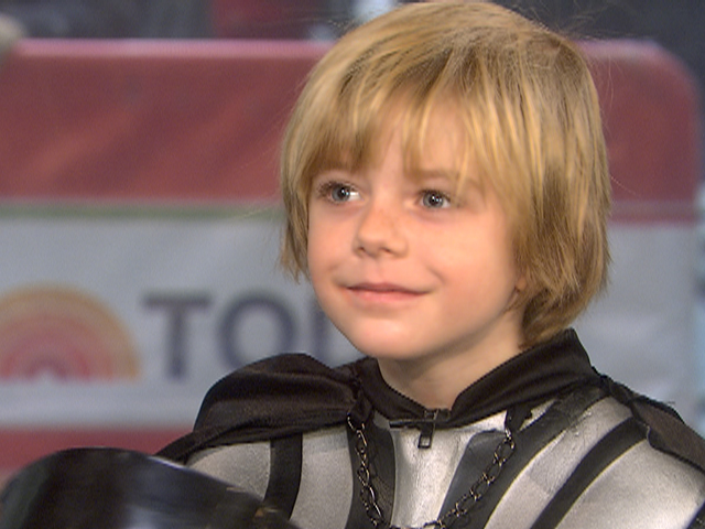 "today :         Unmasked: Meet the boy behind Darth Vader     Child actor Max Page talks about starring in the hit Super Bowl Volkswagen commercial and his battle with heart disease. He then uses The Force to lower the TODAY studio shades.  VIDEO      I love that he sort of looks like Mark Hamill, but has never seen ""Star Wars"" ( too scary, he thinks).       If you like VW's ""The Force""  spot , which has garnered an astounding 22.3 million views on YouTube since its posting last week, you'll like this  clip  – released today and already exceeded 12,000 views – showing bloopers and deleted scenes from it.  (hat tip to  Scott Monty )"