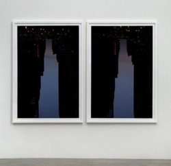 Via  lettersfromhere :       For his 'Buildings Made of Sky' series, American artist Peter Wegner photographed the silhouettes of urban landscapes upside down, revealing imaginary structures in the space between the buildings.      Junkculture: Buildings Made of Sky