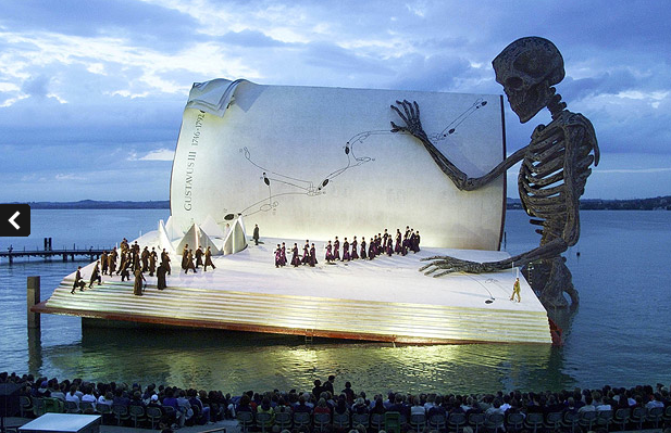 "Via dachesterfrench: Awesome stage for Verdi' s opera ""A Masked Ball"" in 1999. (via The Telegraph)"
