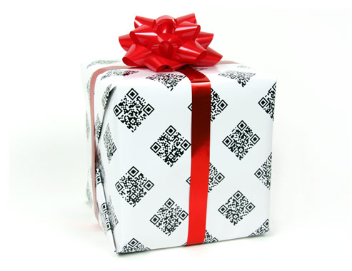 "Via  murketing :     ""Even terrible gifts are worth opening when they're wrapped in QRAPPING PAPER™ the world's most interactive wrapping paper. Behind each QR code is an original holiday video. Over 50 in all, turning any gift into a tiny holiday film festival.""  QRapping Paper™ — Home      Clever!"
