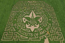 100th Anniversary Corn Mazes – from   Boy Scouts of America's Photos on Facebook    (There are 11 mazes in the set. They're actually pretty cool-looking.)