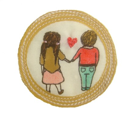 Via   bookspaperscissors :      Merit Badge for 'Surviving First Love' – by leemeszaros on Etsy
