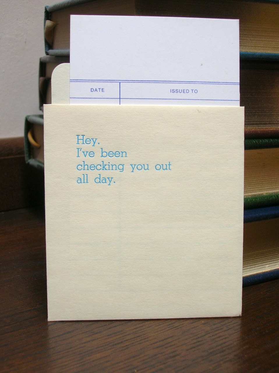 via bookspaperscissors: library card catalog love notes from powerandlight on etsy
